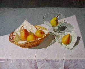 Birnen auf dem Tisch
